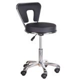 Kosmetická stolička s opěrkou BG-823 černá