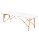 Skládací masážní stůl KOMFORT 2 kombinovaný - bílý