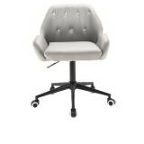 Kosmetická židle LION na černé podstavě s kolečky - šedá