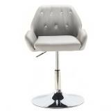 Kosmetická židle LION na kulaté podstavě šedá