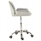 Kosmetická židle LION na podstavě s kolečky šedá
