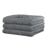 Froté ručník s logem SYIS 70x140 - šedý