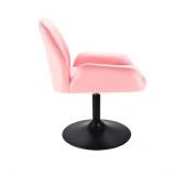 Kosmetická židle LION na černém talíři - růžová