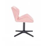 Kosmetická židle MILANO na černém kříži - růžová