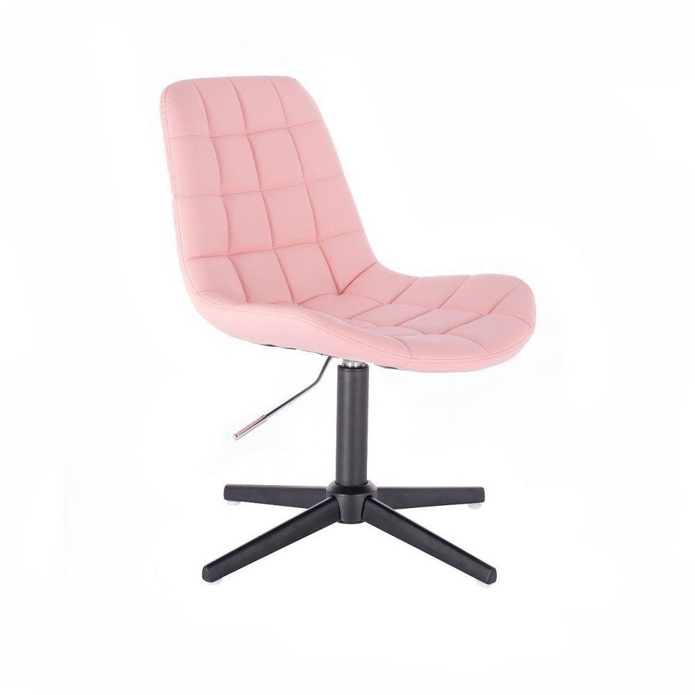 Kosmetická židle PARIS na černém kříži - růžová