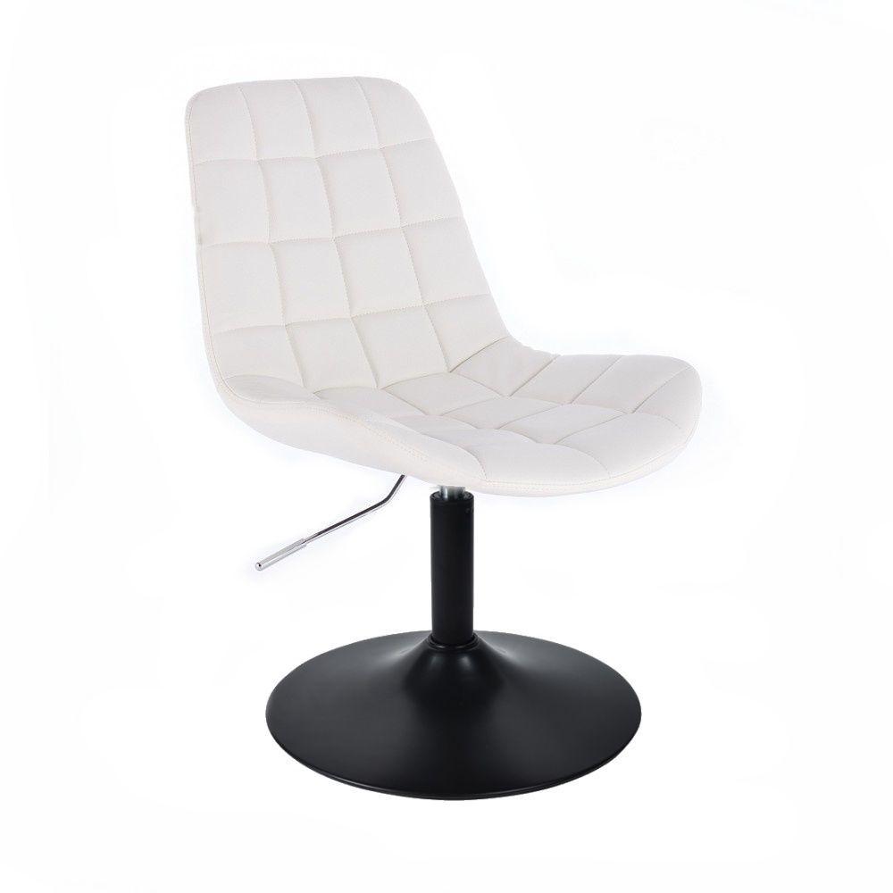 Kosmetická židle PARIS na černém talíři - bílá