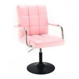 Kosmetická židle VERONA na černém talíři - růžová