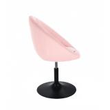 Kosmetické křeslo VERA na černém talíři - růžové