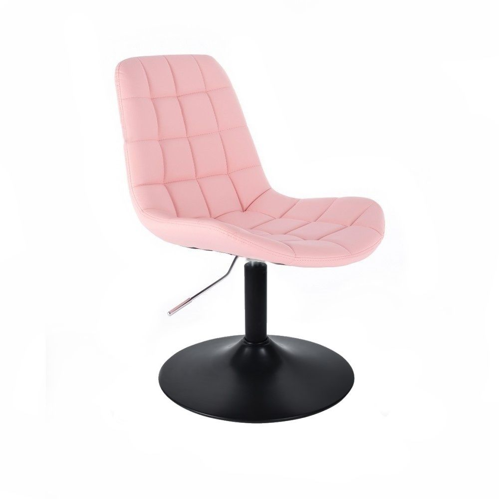 Kosmetická židle HC590 na černém talíři - růžová