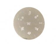 Destička s ornamenty pro akrylové a gelové nehty B42