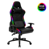Světelná herní židle RGB - černá