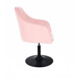 Kosmetické křeslo ANDORA na černém talíři - růžová