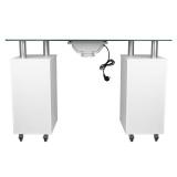 Kosmetický stolek GLASS 317 s pohlcovačem - bílý