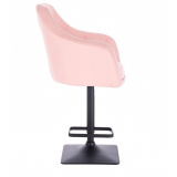 Barová židle ANDORA na černé základně - růžová
