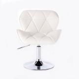 Kosmetická židle MILANO na kulaté podstavě bílá
