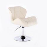 Kosmetická židle MILANO na kulaté podstavě krémová