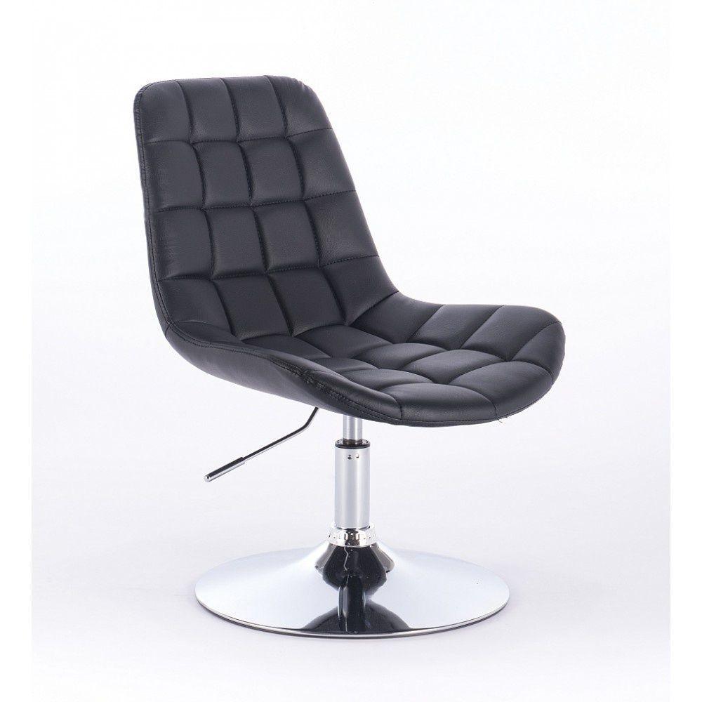Kosmetická židle PARIS na kulaté podstavě černá