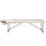 Skládací masážní a rehabilitační stůl BS-723 - krémový