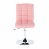 Kosmetická židle TOLEDO na kulaté podstavě růžová
