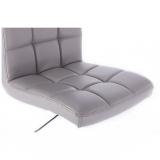 Kosmetická židle TOLEDO na kulaté podstavě šedá