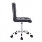 Kosmetická židle TOLEDO na podstavě s kolečky černá
