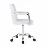 Kosmetická židle VERONA na podstavě s kolečky bílá