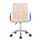 Kosmetická židle VERONA na podstavě s kolečky krémová