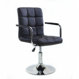Kosmetická židle na kulaté podstavě HC-1015NP černá (V)