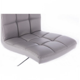 Kosmetická židle TOLEDO na stříbrném kříži - šedá