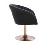 Kosmetická židle VENICE VELUR na zlatém talíři - černáŽidle VENICE VELUR na zlatém talíři - černá