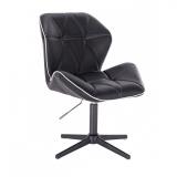 Židle MILANO MAX na černém kříži - černá