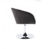 Kosmetická židle VENICE VELUR na stříbrném talíři - tmavě šedá