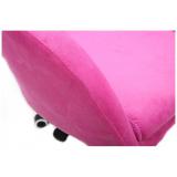 Kosmetická židle VENICE VELUR na zlaté podstavě s kolečky - růžová