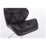 Kosmetická židle MILANO na zlaté podstavě s kolečky - černá