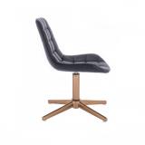 Kosmetická židle PARIS na zlatém kříži - černá