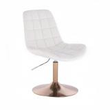 Kosmetická židle PARIS na zlatém talíři - bílá