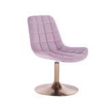 Kosmetická židle PARIS na zlatém talíři - fialový vřes