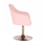 Kosmetické křeslo ROMA na zlatém talíři - růžové